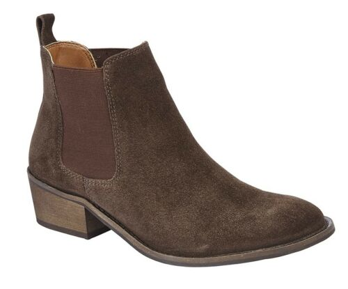 Cipriata /'Sabrina/' Ladies Suede Twin Gusset Chelsea Boots Womens Ankle Boot