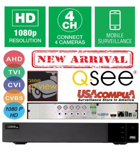 Smart 4in1 2018 NEW Q-see 4 Ch BNC QTH94 1080P AHD DVR NO HDD