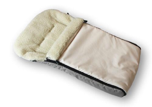 Kindersack Lammfell,echte Lammwolle-Winterfußsack,Fußsack für Kinderwagen Buggy