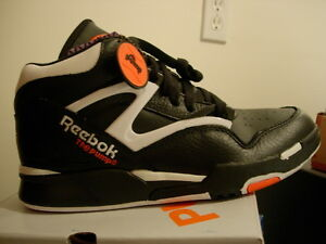 reebok pump omni lite black orange