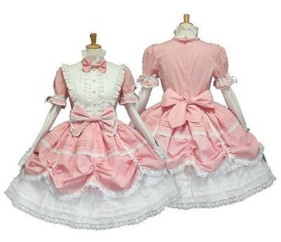 Lolita Princess Cosplay Anime maid clothing Gorgeous Pink Halloween costume
