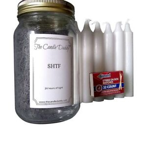 Details about SHTF Prepper pack by The Candle Daddy™ 24 hours of light  emergency candles light