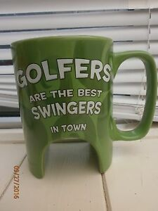 Golf mug ceramic mug golfers are the best swingers in town with practice hole - <span itemprop='availableAtOrFrom'>Chatham, United Kingdom</span> - Golf mug ceramic mug golfers are the best swingers in town with practice hole - Chatham, United Kingdom