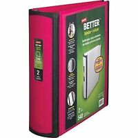 Staples 2 Inch Better View Binder With D-rings, Pink