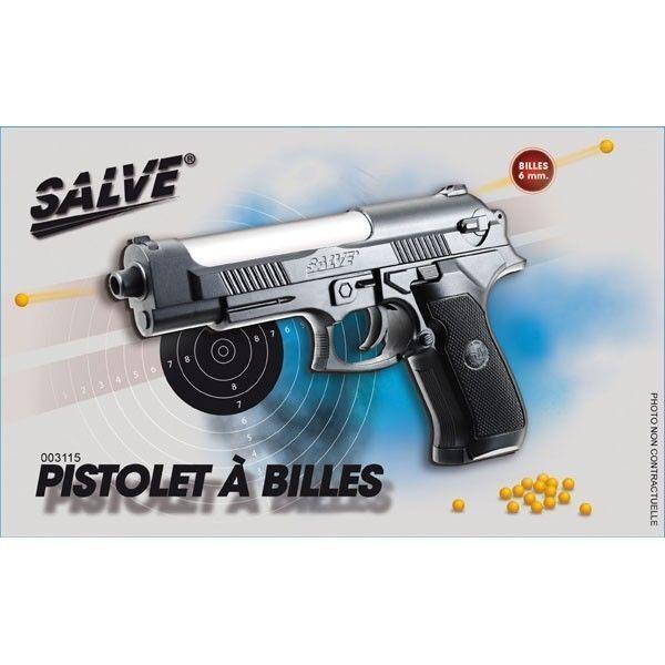 Pistolet à Billes Noir et Argent 20 cm