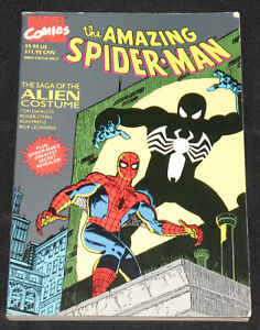 1989-AMAZING-SPIDER-MAN-GRAPHIC-NOVEL-FN-Saga-of-the-Alien-Costume-Black