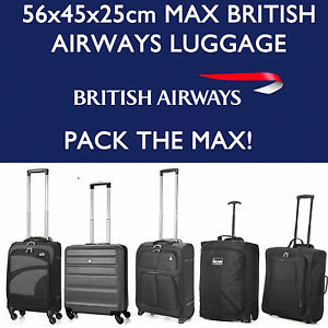british airways 56x45x25 max large cabin hand carry luggage suitcase rh ebay co uk british airways carry on size dimensions british airways carry on size limit