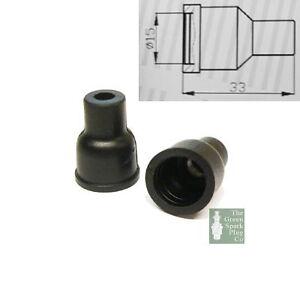 10x-HT-Silicone-PVC-insulators-for-distributor-cap-7mm-Straight-Black