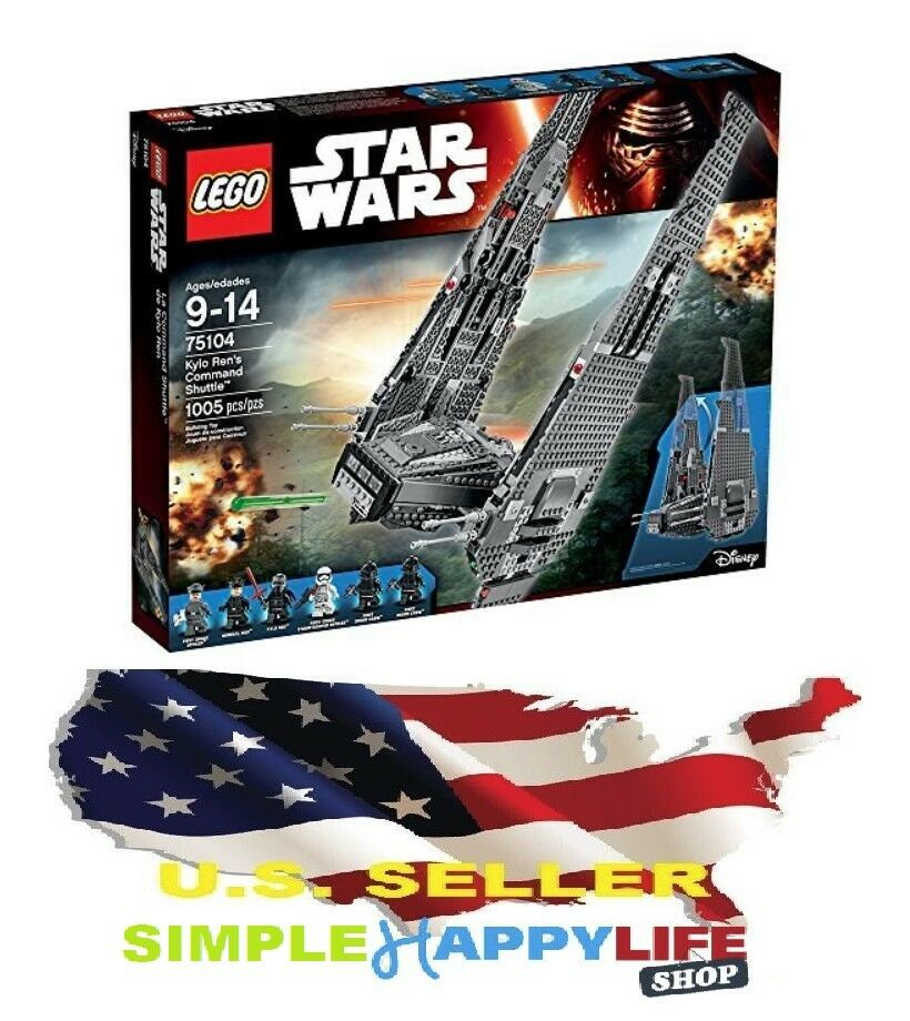 New Lego 75104 Star Wars Kylo Ren's Command Shuttle 1005 PCs READY TO SHIP