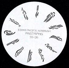 PINSTRIPS  FINGERNAIL AIRBRUSH STENCIL #36 AIRBRUSHING NAIL ART STENCIL
