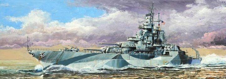 05772 Trumpeter 1 700 Model USS Battleship BB-48 West Virginia 1945 Warship