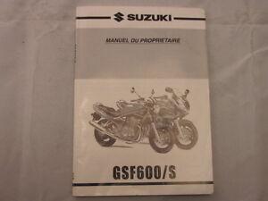 SUZUKI-GSF600-GSF600S-2000-MANUEL-DU-PROPRIETAIRE-OWNERS-MANUAL