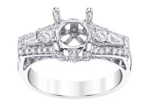 Diamond-Engagement-Ring-Setting-18k-White-Gold-0-75ct-VS1-3-Stone