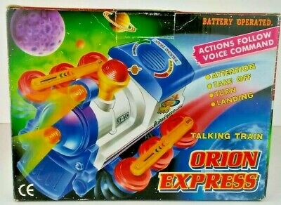 Electronic, Battery & Wind-up Aspiring Orion Express Battery Operated Talking Train Cf-889 Vintage Retro Looking Box Reliable Performance