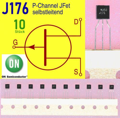 10 x J176 JFET Transistor P-Channel selbstleitend ON-Semi Brief aus DE