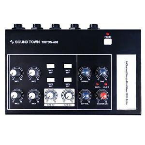 Sound-Town-8-Channel-Mono-Stereo-Karaoke-Mini-Mixer-Echo-Delay-Effect-TRITON-A08