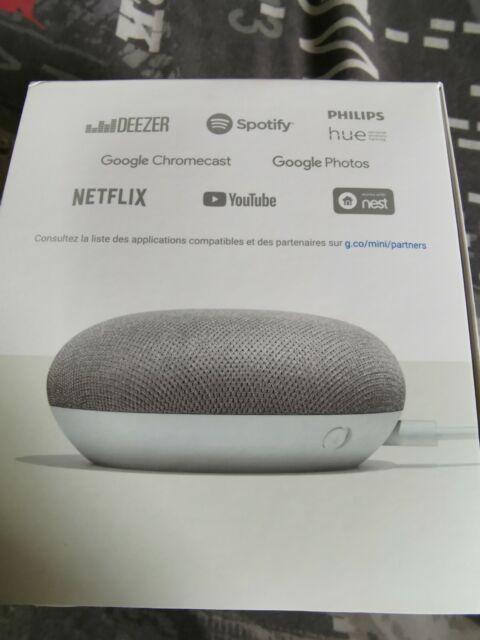 Enceinte Bluetooth Google Home Mini, gris, neuf jamais sorti de la boite