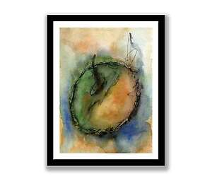 Watercolour-apple-Print-of-painting-In-7-034-x-5-034-unique-gift-ID-074