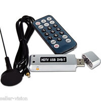 USB DVB-T Digital Freeview TV Receiver Tuner Dongle Recorder PC Laptop Computer