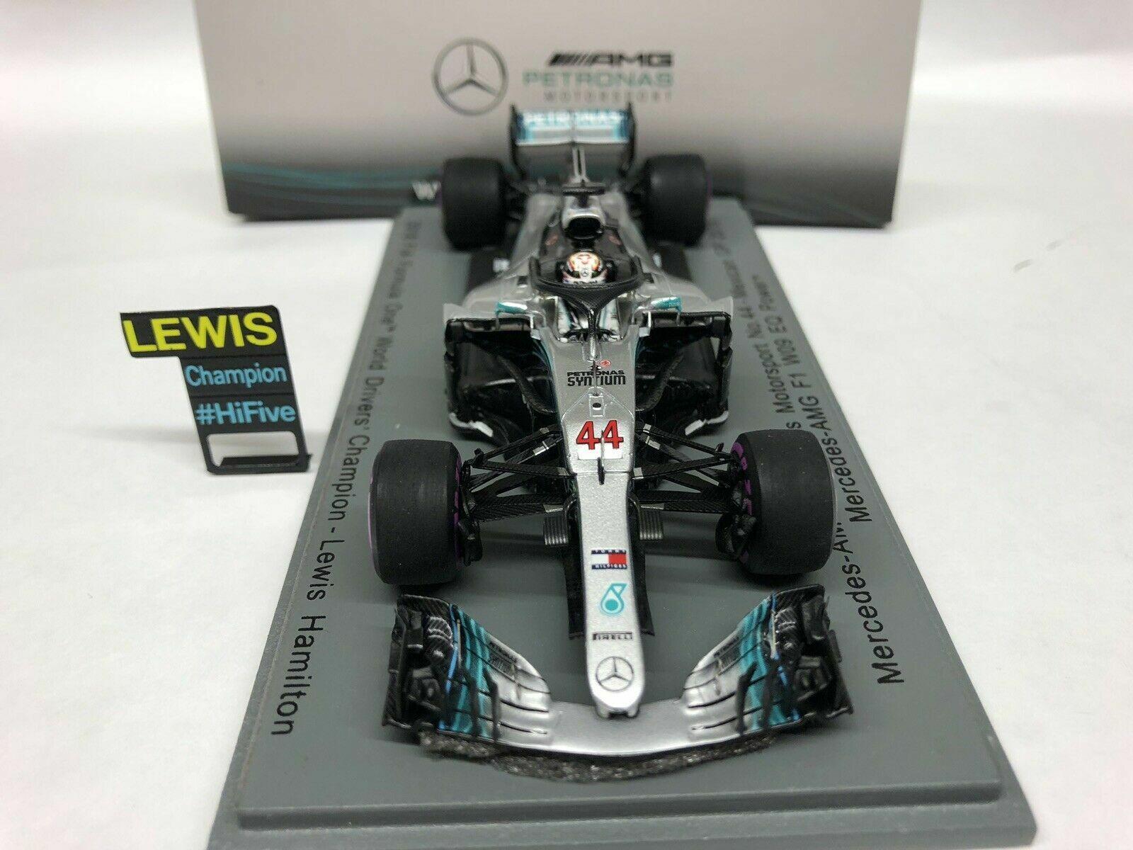 SPARK 1 43 43 43 AUTO F1 MERCEDES AMG W09 L.HAMILTON WORLD CHAMPION MESSICO 2018 S6067 90efe9