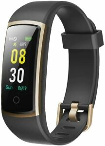 Yamay - SW336 Fitness Tracker Bluetooth Multi Wasserdicht IP68 Android iOS Gold