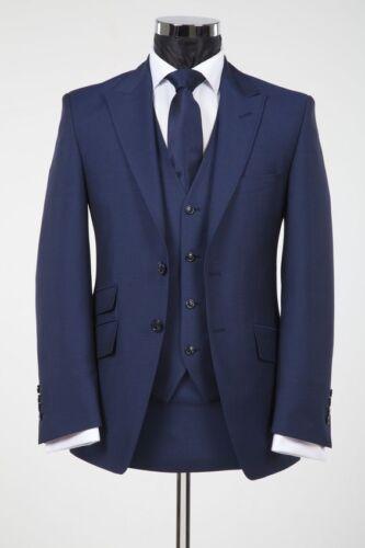 pièce des hommes bleu meilleur formelle costumes de de 3 marine mariage blazer Tuxedos homme de marié TlcFJ1K