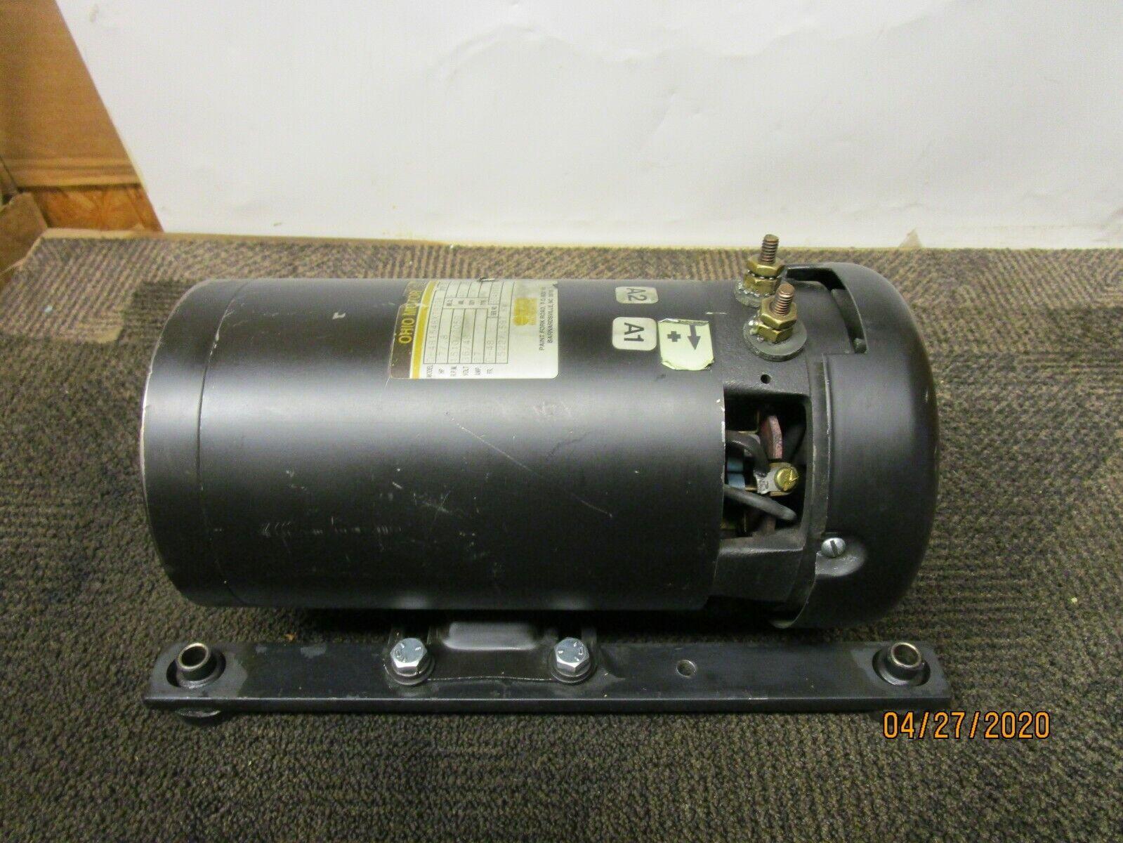 OHIO D-481548X7923A .7//.8HP FORKLIFT MOTOR 36//48V 1510//2050RPM D-48 FRAME