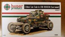 1/72 4 wheels Tank trailer for 35M Ansaldo w Tank Hunor WWII resin kit PE 72038