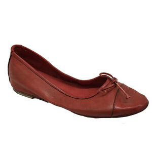 KUDETA-039-women-039-s-shoe-ballerina-red-100-leather-MADE-IN-ITALY