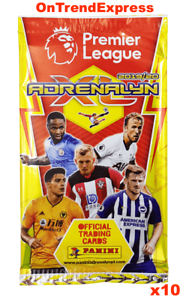 10-x-Packs-of-2019-2020-PANINI-Adrenalyn-XL-Premier-League-Soccer-Trading-Cards