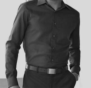 Apt 9 Men Solid Tonal-stripe Casual/Dress Shirt~$42-$44~NWT | eBay