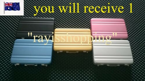 Aluminium Briefcase Locks Suitcase Business Card Holder, 5 Different Colours