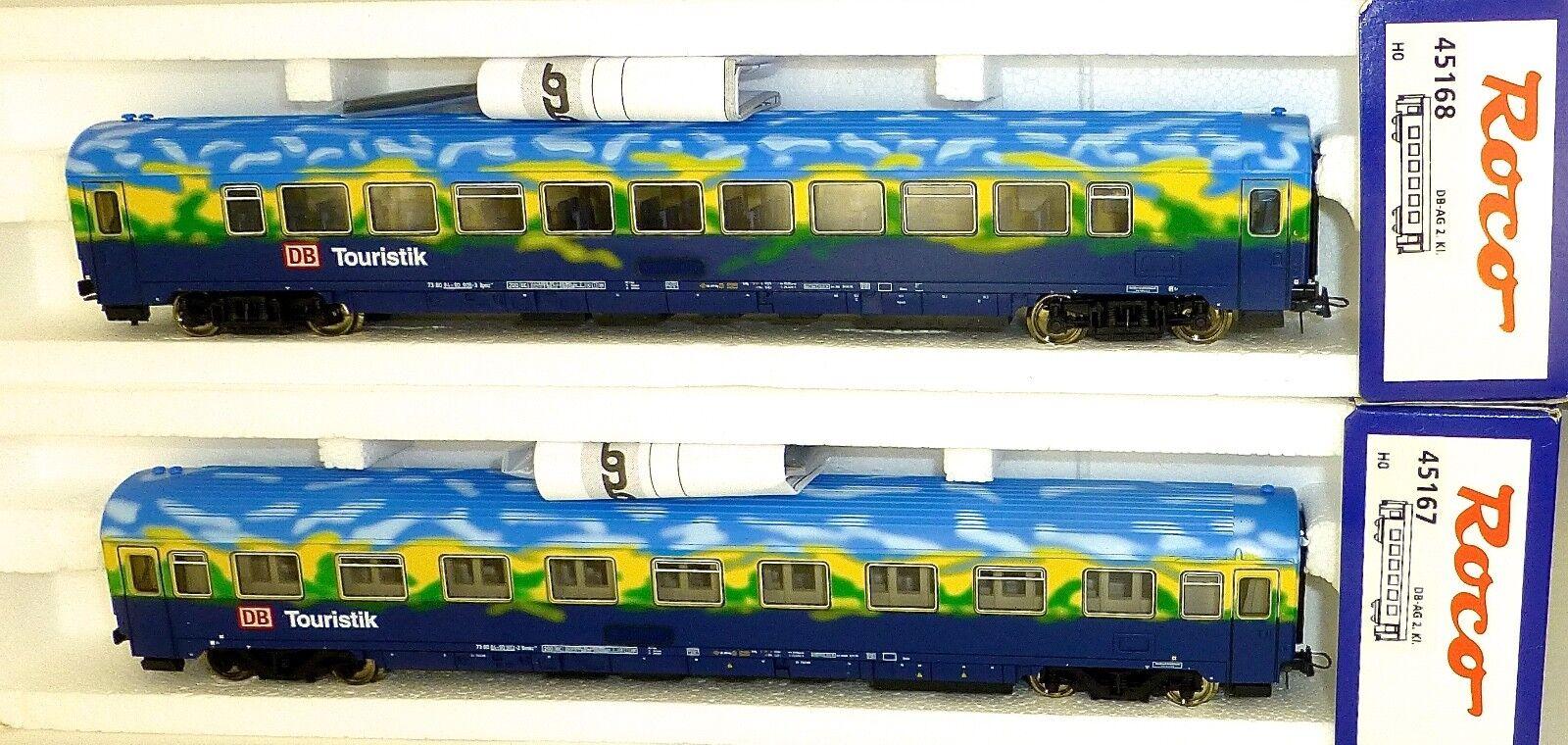 2 X Train Touristique Abteilwagen Voiture de Tourisme Roco 45167 45168 H0 1 87