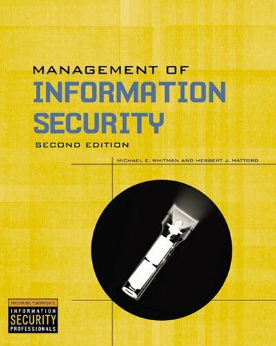 Management Of Information Security Michael E Whitman Pdf