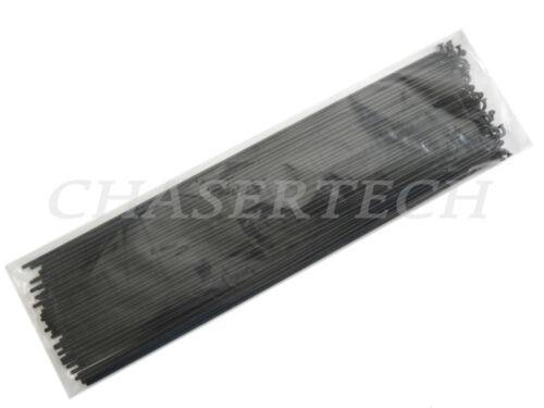 MTB City Bicycle Bike Steel Spoke 2.0mm 14G 258mm 72 Pcs black