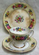 Vintage Royal Standard China 'Brussels Lace' Cup Saucer & Side Plate Trio