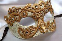 Lace Venetian Half Face Brocade Crystal Christmas Year Masquerade Ball Mask