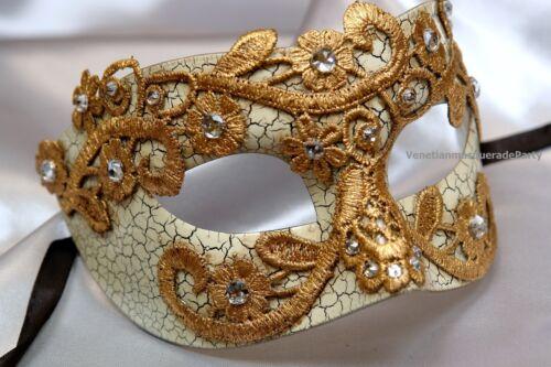 Lace Venetian Half Face Brocade Crystal Christmas New Year Masquerade Ball Mask