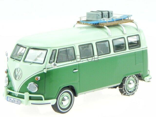 VW T1 Mindersamba deluxe green modelcar 13861 Premium ClassiXXs 1 43