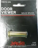 Eagle Door Viewer, Peep Hole, Set Of 2, Solid Brass, Cd6755 Us3