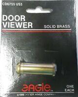 Eagle Door Viewer, Peep Hole, Set Of 2, Solid Brass, Cd6755 Us3