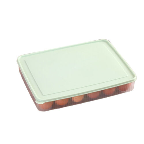 Large Capacity 24 Grids Egg Storage Box Egg Organizer Holder Container Dispenser