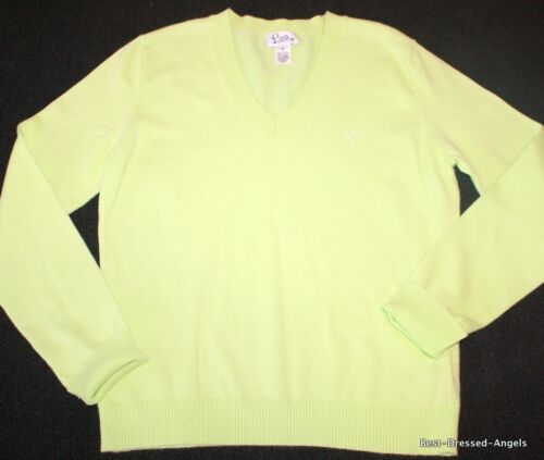 LILLY PULITZER Long Sleeve Apple Green Sweater Top