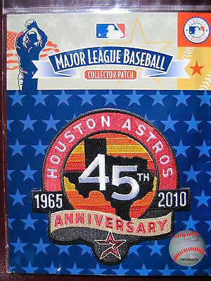 MLB Official Houston Astros 45th Anniversary Patch 2010