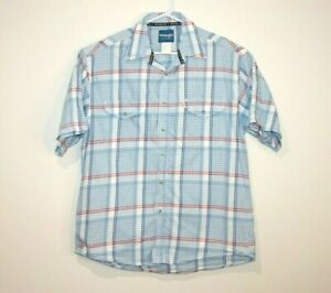 Wrangler-Western-Shirt-Short-Sleeve-Button-Up-Men-039-s-Size-Large