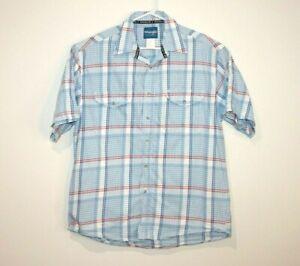 Wrangler-Western-Shirt-Short-Sleeve-Button-Up-Men-039-s-Size-Large