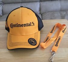 Auto Racing Continental Tire Baseball Cap Hat One Size & Lanyard & IMSA Sticker