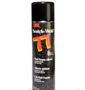 3M-ScotchWeld-Spray-77-Aerosol-Adhesive-bonding-Foil-Fabric-Clear-Glue-500ml-Can