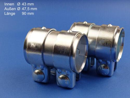 Rohrverbinder 43x90mm 2 Stück