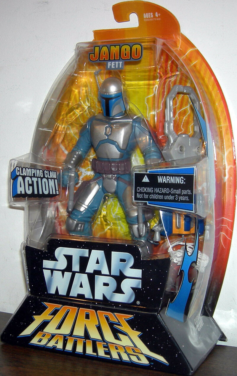 Star Wars Force Battlers Jango Fett 7 Inch 18cm Action Figure 2005 Hasbro RARE